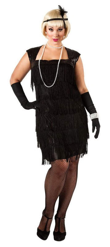 Plus Size Flapper Costume - curvyoutfits.com