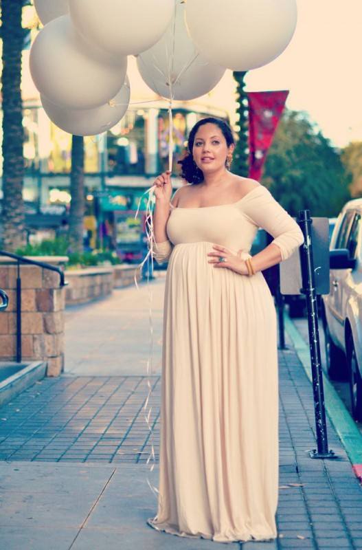 plus size maternity clothing - curvyoutfits