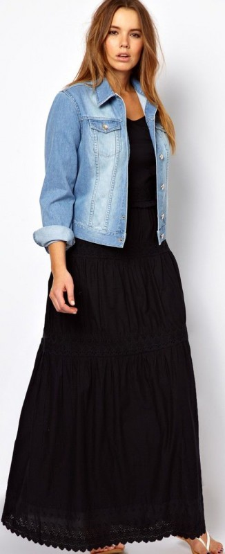 Plus Size Jean Jacket 5 best outfits - curvyoutfits.com