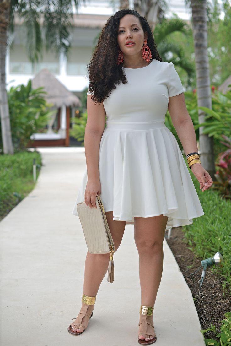 Short summer plus size dresses