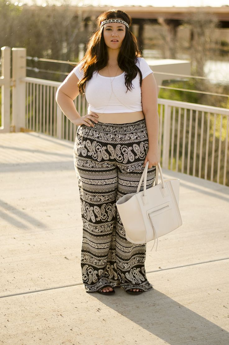boho plus size outfits - curvyoutfits
