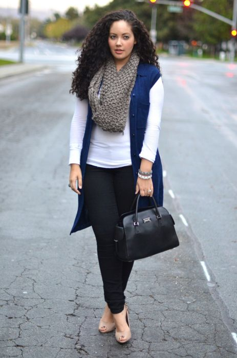 Plus Size Outfits With Scarves - curvyoutfits.com