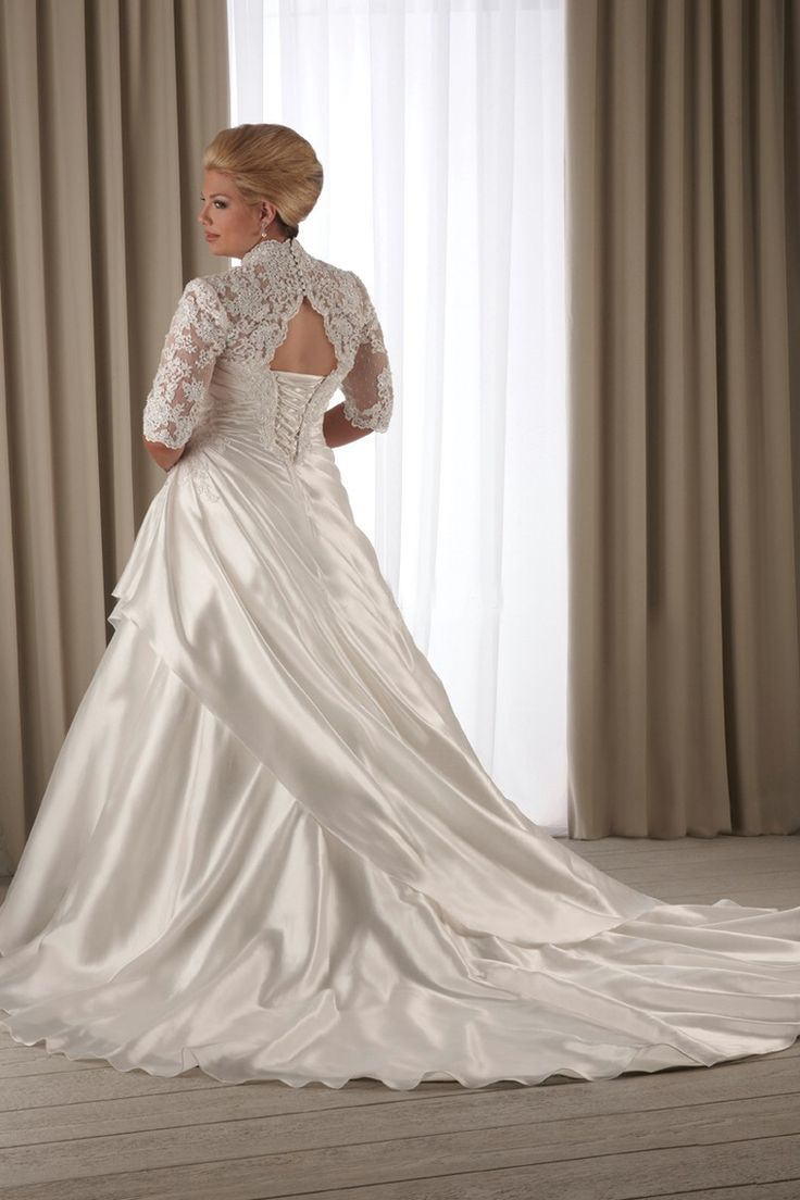Plus size wedding dresses 5 top page 2 of 5 for Chic and curvy wedding dress