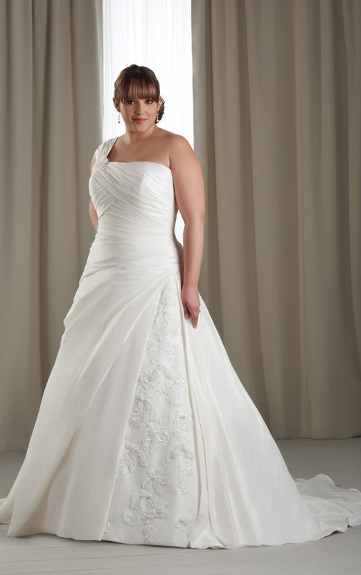 Plus size wedding dresses one shoulder page 4 of 5 for Plus size one shoulder wedding dress