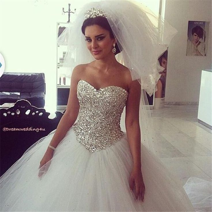 Plus Size Wedding Gowns With Bling