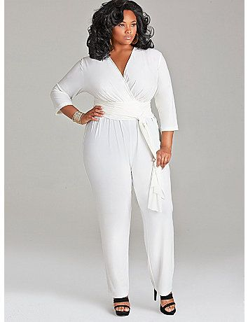 Plus size white dress for church - curvyoutfits.com