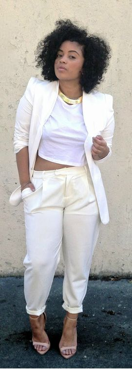 All White Dress Suit | My Dress Tip