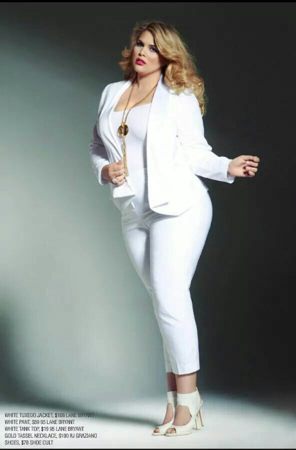 Plus size white dress suit - Page 5 of 5 - curvyoutfits.com