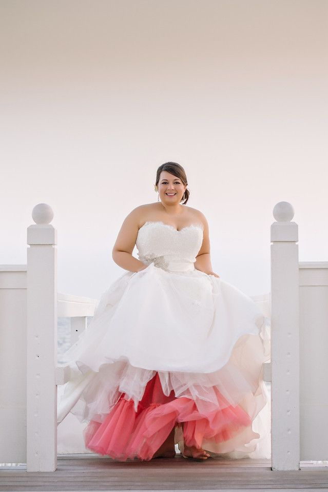How to find the right color for your stunning plus size for Colored plus size wedding dresses
