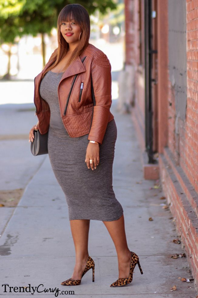 5 ways to wear a leather jacket for curvy girls that you ...
