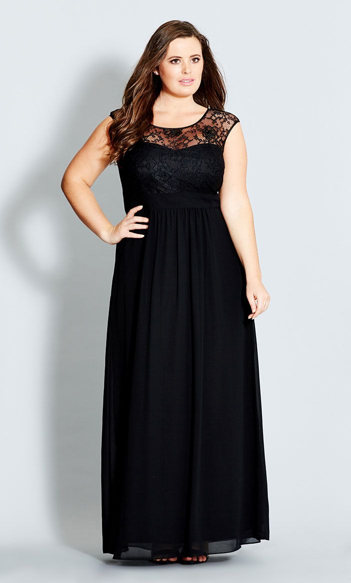 5 ways to wear a plus size black maxi dress - curvyoutfits.com