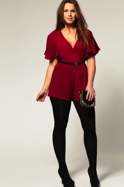5 Beautiful Plus Size Rompers For Christmas Parties - Page 4 Of 5 - Curvyoutfits.com