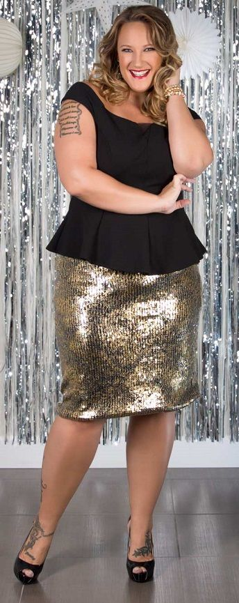 5 plus size sequin skirts that you will love - curvyoutfits.com