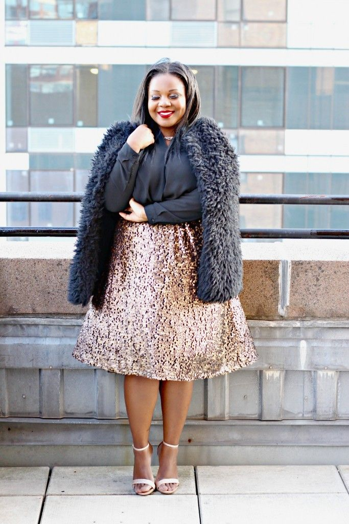 Sequin Plus Size Skirt - Dress Ala