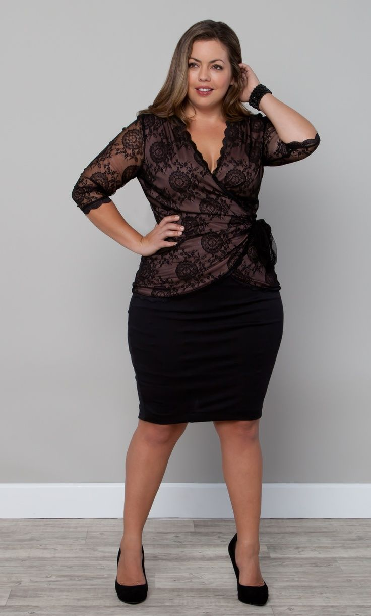 5 ways to wear a plus size lace top that you will love