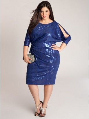 5 ways to wear plus size a electric blue dress at New Year\'s Eve ...