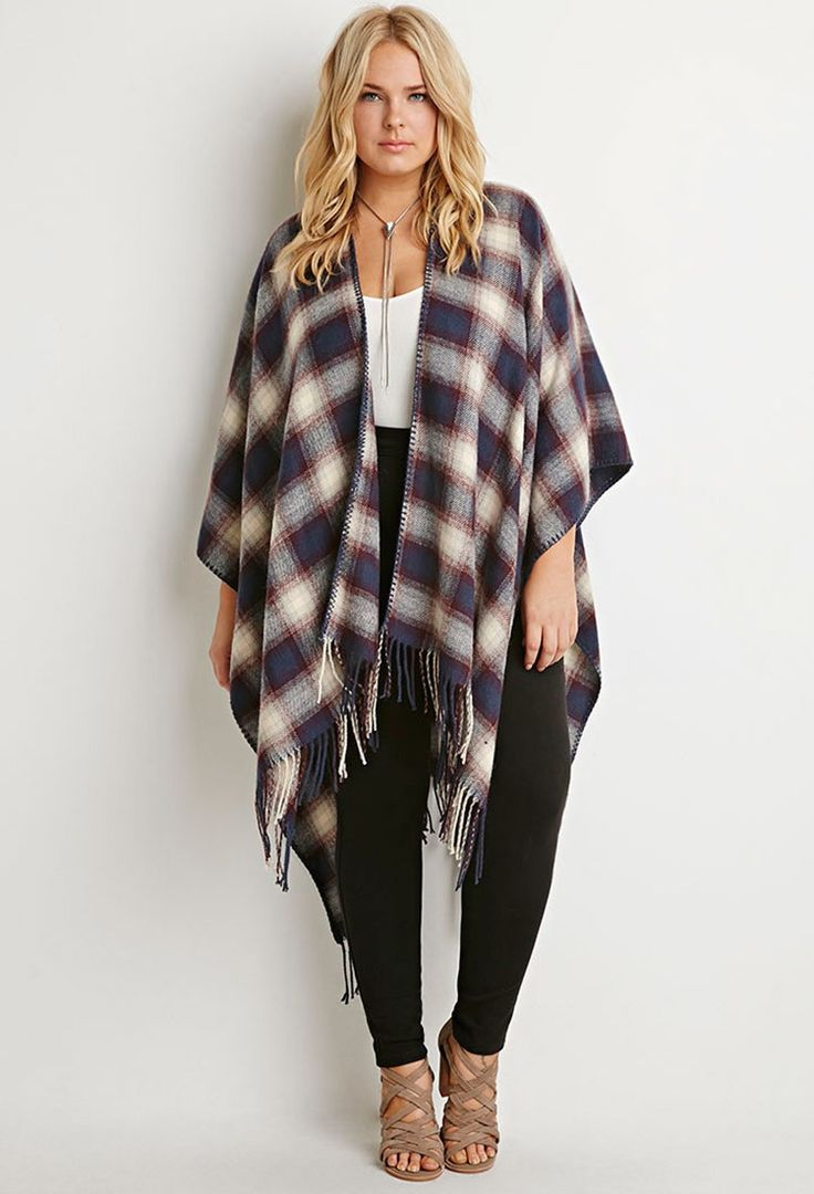 the right poncho for plus size girls - curvyoutfits