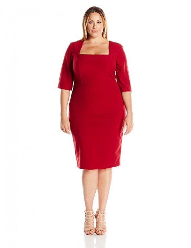 5 plus size red dresses for Valentine's day - curvyoutfits.com