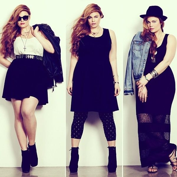 5 ways to adopt the total black style - curvyoutfits.com