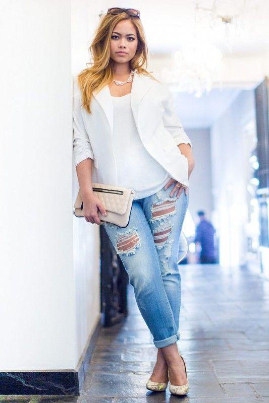 5 ways to wear a plus size white blazer that you will love