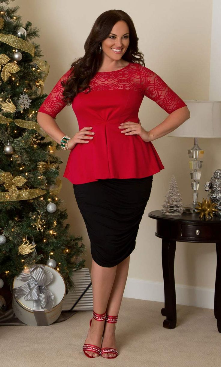 Stylish Tops Collection 2013 For Girls: Stylish Peplum Tops For Plus Size Girls