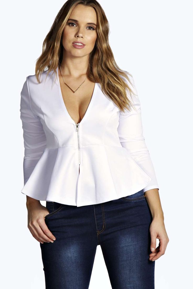 stylish peplum tops for plus size girls