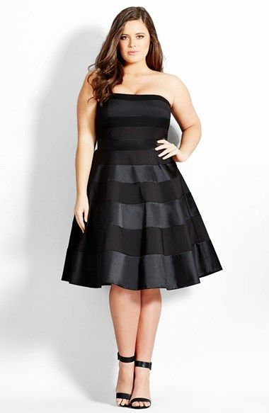 5 black satin dresses for curvy stylish women - curvyoutfits.com