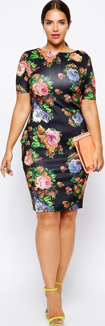5 chic floral dresses for plus size girls that you will ...