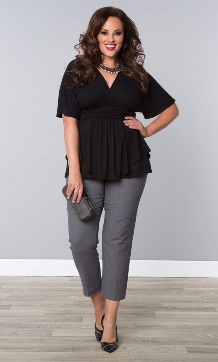 These are the perfect start to a plus size pant suit, pair it with a blazer to complete the look. Pair with a plus size button down shirt, plus size jacket or blazer, shoes, and amazing accessories for a complete head-to-toe look. Also, make sure to check out our smooth, stretchy pull on styles for the ultimate comfort and convenience.