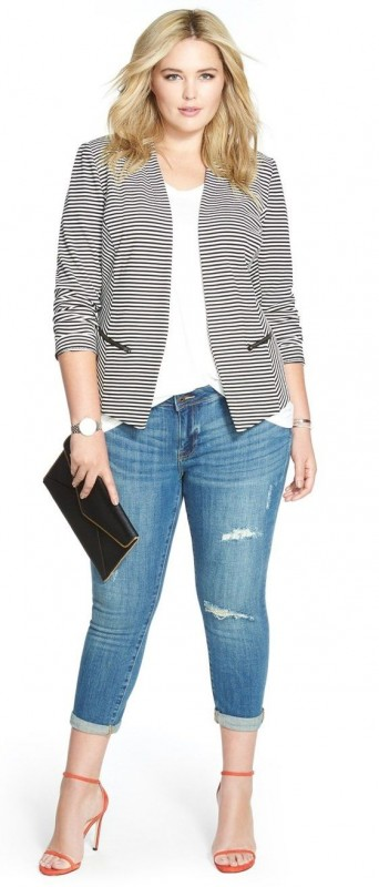 Jeans, High Heels for Curvy Women