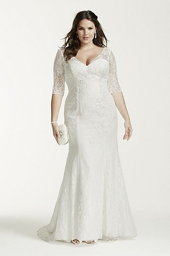 8 amazing wedding dresses for curvy women page 2 of 5 for Chic and curvy wedding dress