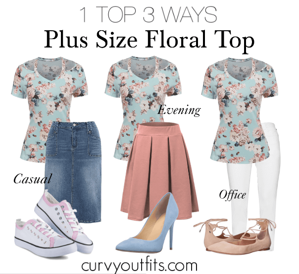 how to wear a plus size floral top 1 - 5 plus size floral shirts for romantic spring looks