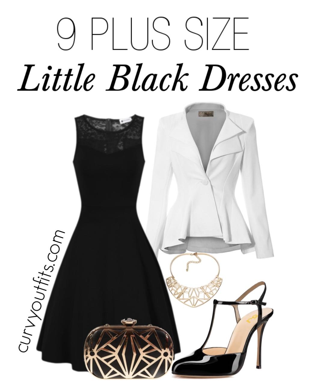 plus size little black dress outfit - 11 plus size short black dresses for fashionable outfits