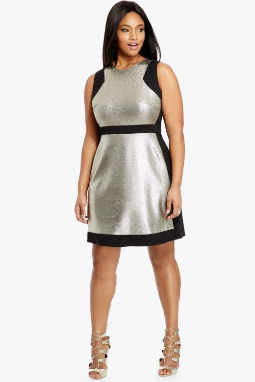 Stylish color block dresses for plus size women - Page 4 of 5 ...