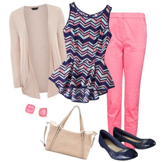 How To Wear Pastel Pink Pants In Plus Size Outfits