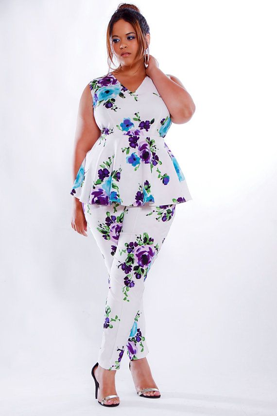 how to wear plus size floral pants and look elegant - page 5 of 5