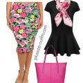 plus size floral print pencil skirt outfits 1 120x120 - 5 chic ways to wear a plus size floral pencil skirt