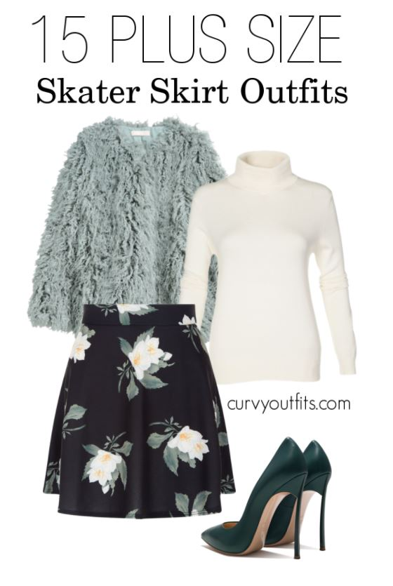15 plus size skater skirt outfits - How to be stylish in a plus size skater skirt 19 outfit ideas