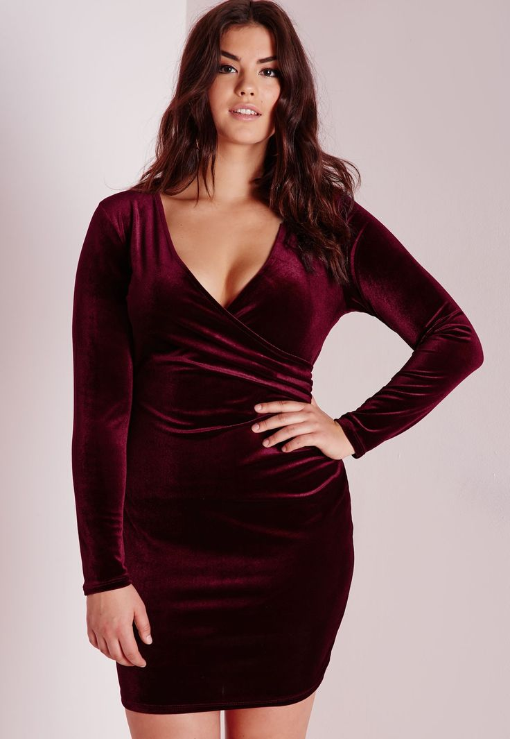 5 Ways To Wear A Burgundy Plus Size Dress - Curvyoutfits.com