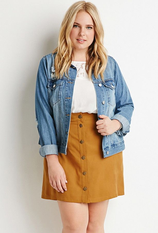 how to wear a plus size skirt with buttons 3 - How to wear a plus size skirt with buttons