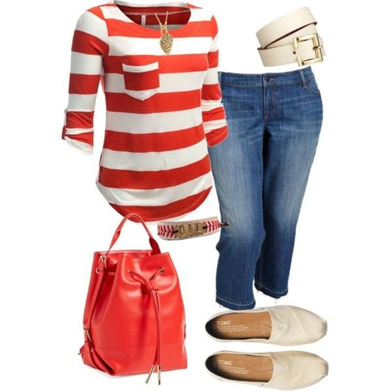 how to wear a plus size striped top in all day outfits - How to wear a plus size striped top in all day outfits