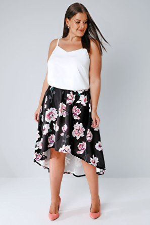 plus size floral skirt high low - 5 stylish spring outfits with a plus size floral skirt