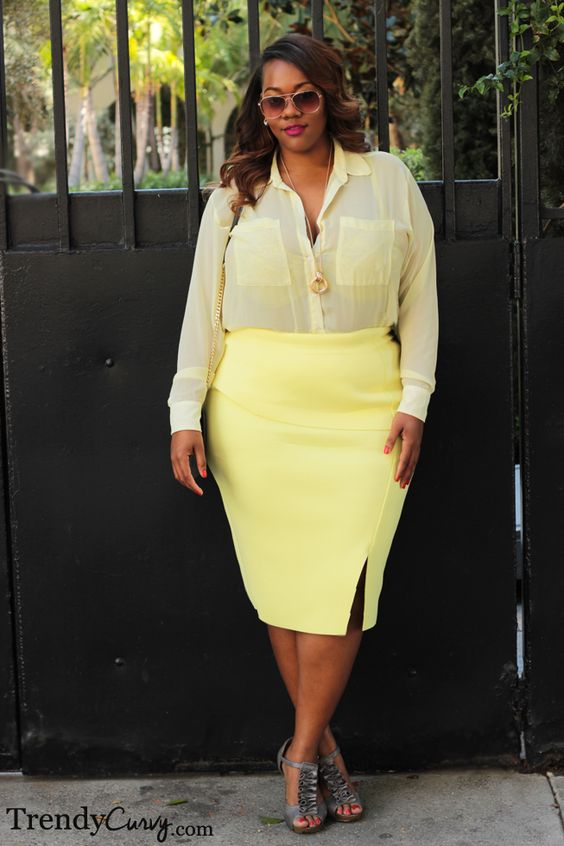 5 plus size pastel skirt outfits for romantic looks - page 3 of 5