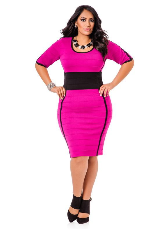 5 plus size pink dresses for spring style - curvyoutfits.com