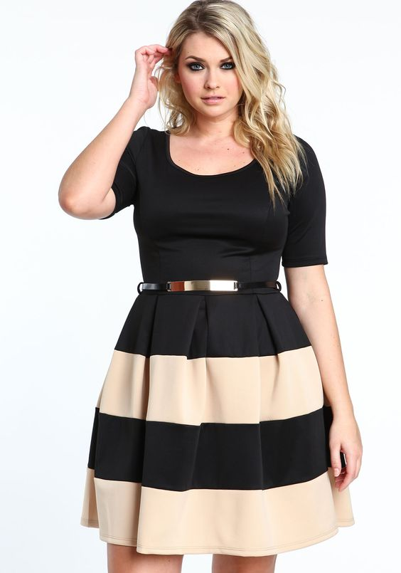 5 plus size spring dresses for work styling - curvyoutfits.com