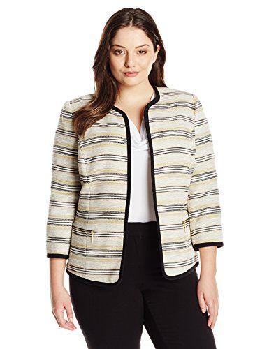 5 tweed plus size blazers for work - curvyoutfits