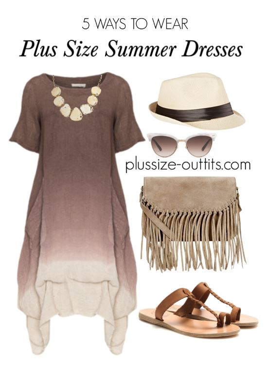 5 ways to wear brown plus size summer dresses 3 - 5 brown plus size summer dresses that will flatter your curves