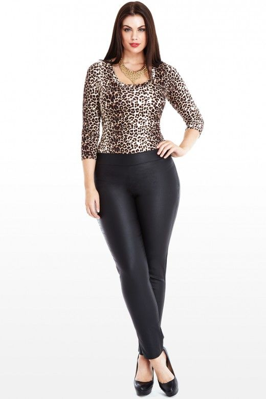 LEATHER PANTS FOR WOMEN. Combine edgy style with a slim silhouette when you wear leather pants for women. Faux-leather leggings from SPANX and Two by VINCE CAMUTO hug your curves to give you a slim silhouette late into the evening, or check out other faux-leather or leather-trimmed leggings from Lyssé or Calvin Klein Plus.