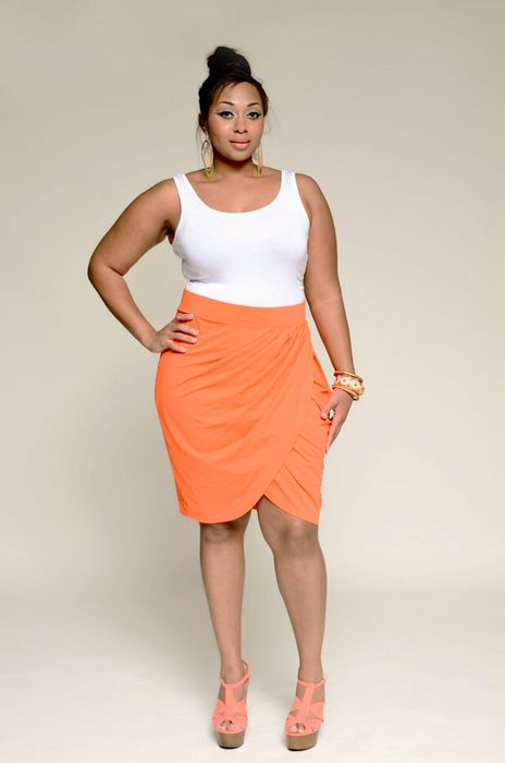 how to wear a plus size tulip skirt in style 1 - How to wear a plus size tulip skirt in style
