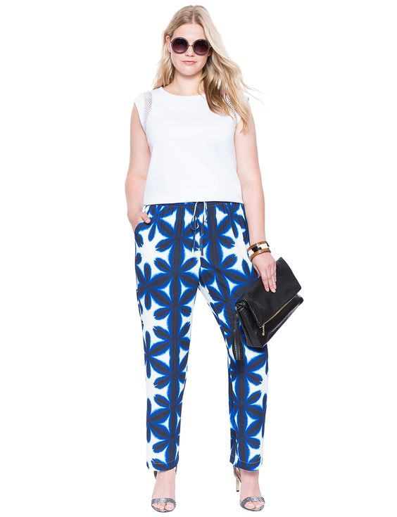 5 stylish ways to wear plus size floral pants in spring ...
